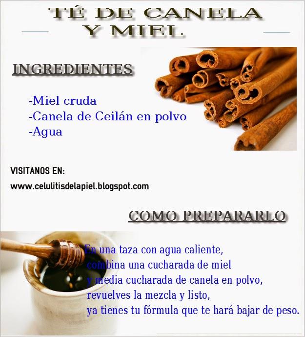 remedio casero para adelgazar con canela y miel