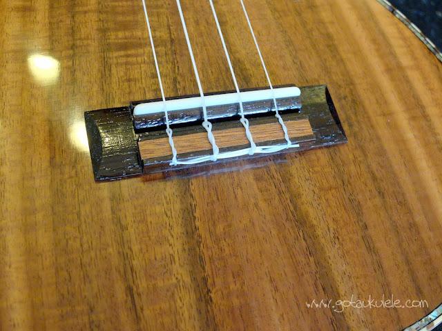 PSI-S-LEO II Tenor ukulele bridge