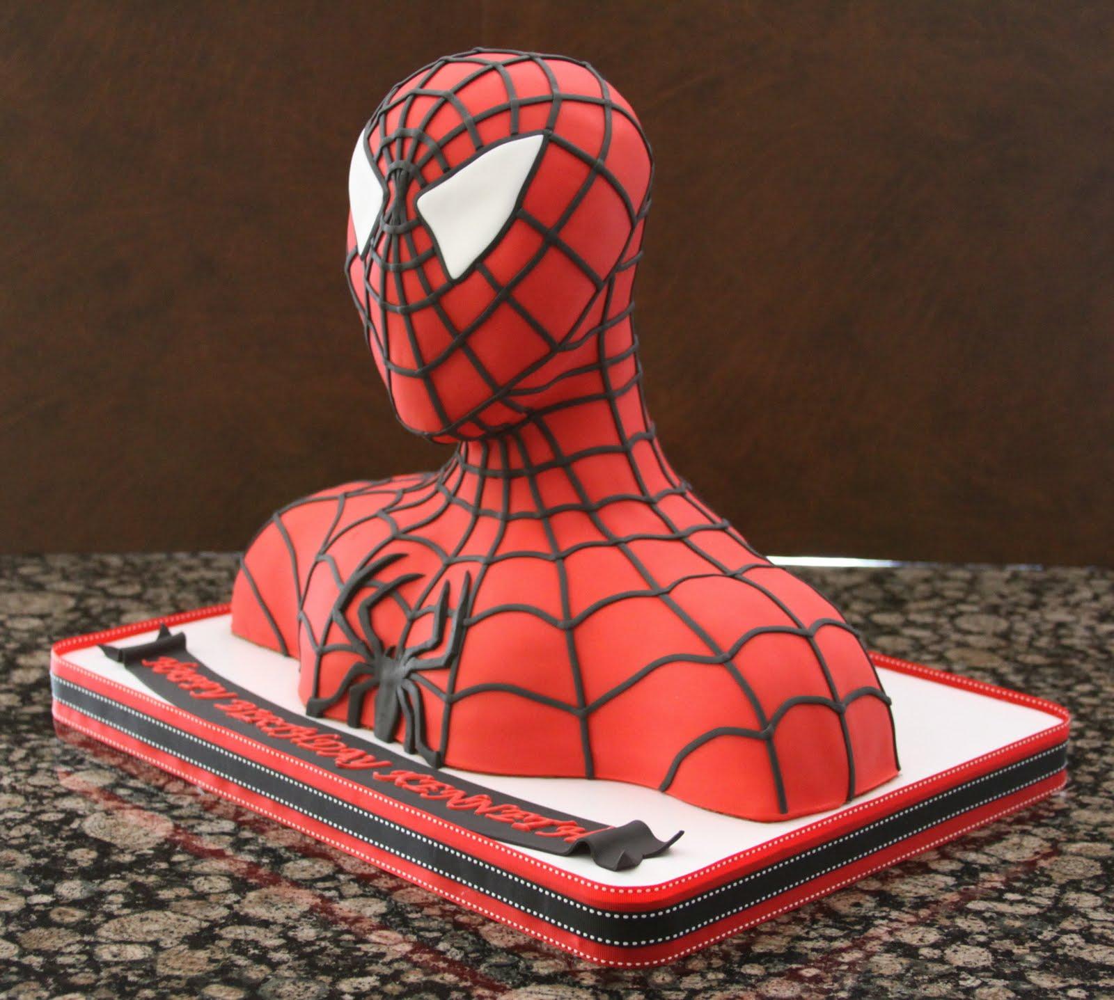 Spiderman Cake And Superhero Cake Pops