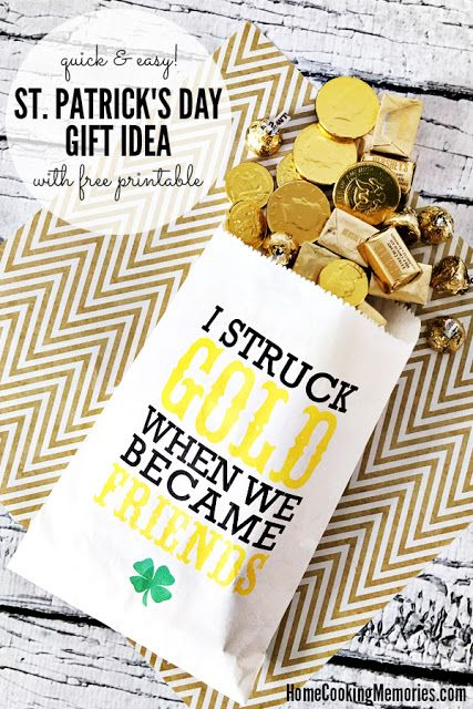 Easy St. Patrick's day gift idea with free printable!