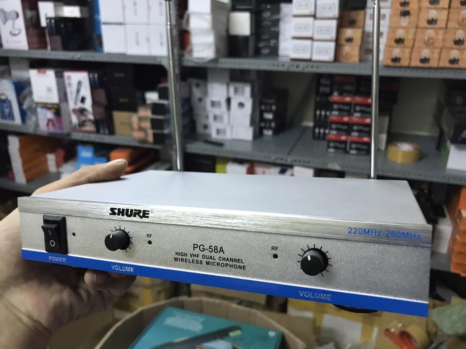Bộ 2 micro không dây SHURE PG58A, Mic không dây SHURE PG58