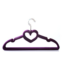 Product Review: BriaUSA Heart Shaped Velvet Coat Hangers Set of 10