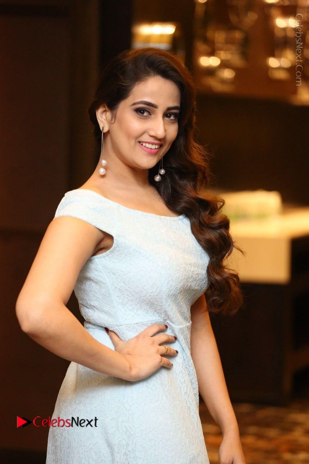 Manjusha Stills in Short Dress at Dhruva Salute to Audience Event
