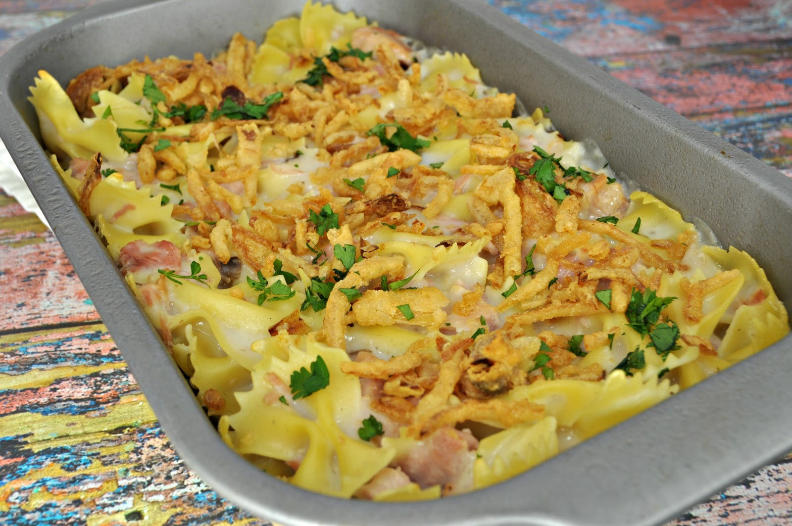 Food hussy recipe ham noodle casserole the food hussy now ham casserole with egg noodles but as you may know my husband is allergic to eggs so i substituted bowties and it was just as tasty forumfinder Gallery