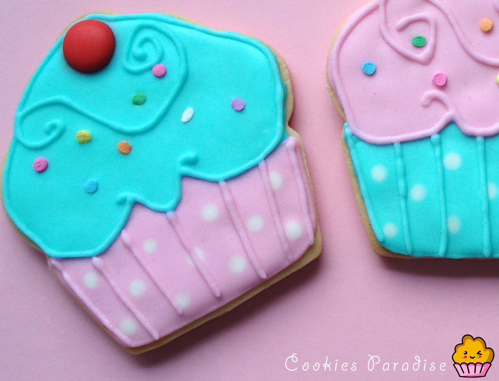 Galletas Decoradas En Forma De Cupcake Cookiesparadise S Blog