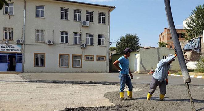 Silvan Belediyesinden okullara bakım ve onarım hizmeti
