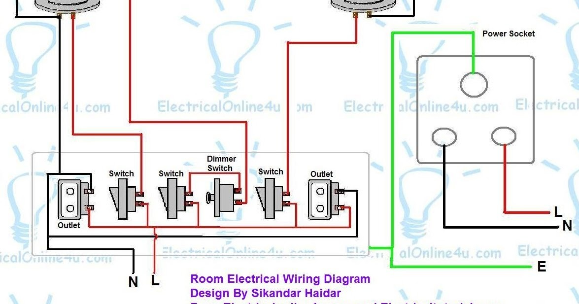 how to wire a room in house electrical online 4u rh electricalonline4u com Bedroom Wiring-Diagram House Electrical Wiring Diagrams
