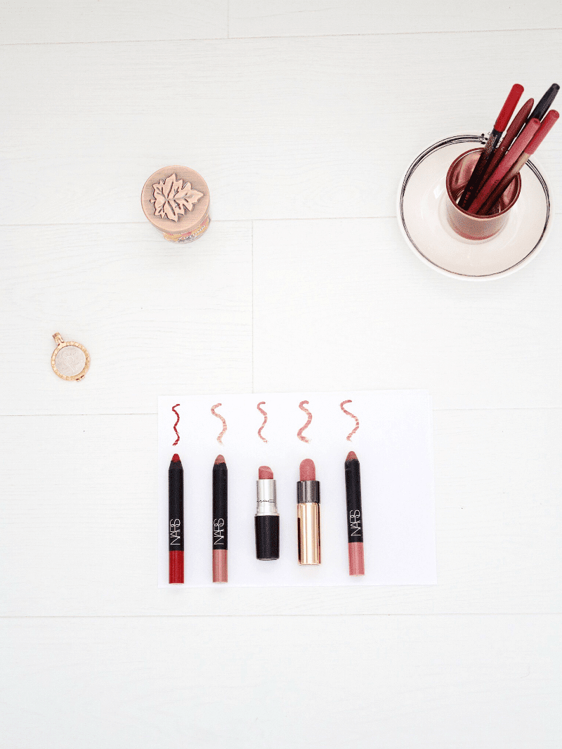 Top 5 lipsticks & lipliners blog post