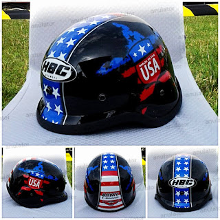 Helm Hbc Rusian Army USA/Japstyle/Bogo/Cafe Racer/Cakil