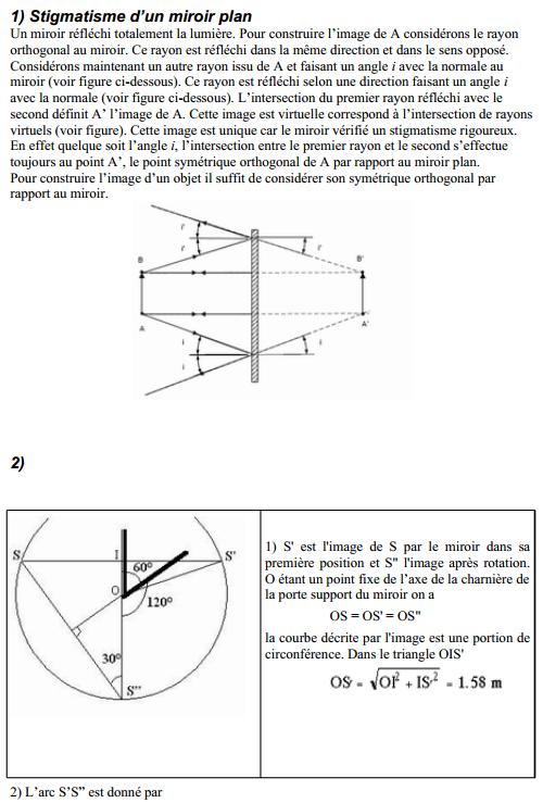 Optique géométrique smpc s2