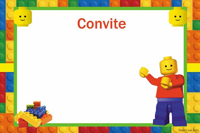 Para hacer Invitaciones, Tarjetas, Marcos de Fotos o Etiquetas de Fiesta de Lego para Imprimir Gratis.