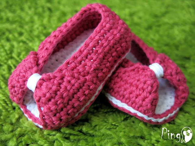 Mini Princess Slippers Crochet Pattern by Pingo - The Pink Penguin