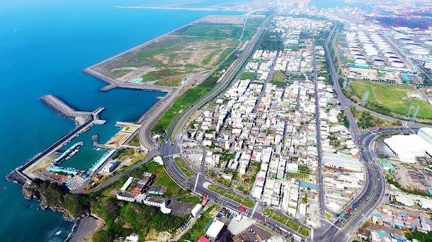 大林蒲地區空拍圖。