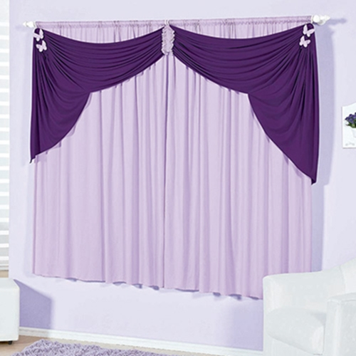 modern purple window curtain designs - bedroom window treatments
