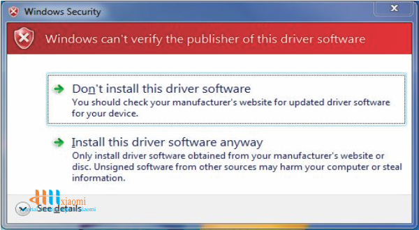 klik install this driver software anyway