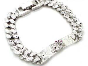 model gelang emas putih