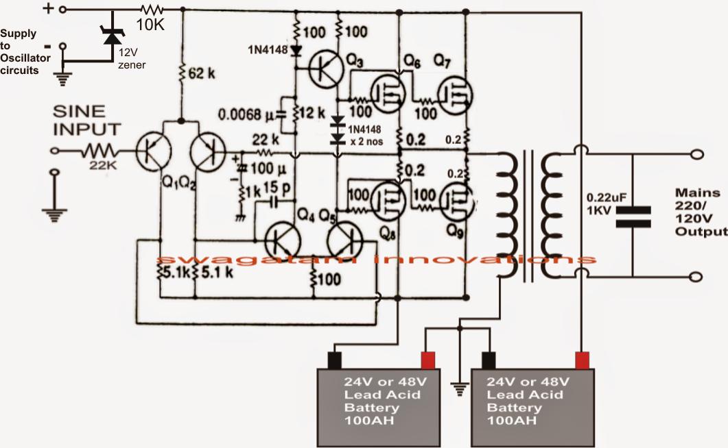 Make This 1KVA (1000 watts) Pure Sine Wave Inverter