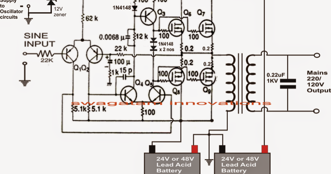 Inverter Circuit Diagram Pure Sine Wave
