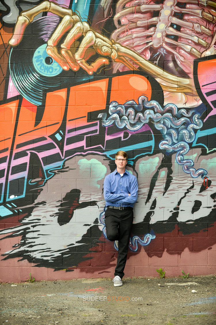 Dearborn High School Graffiti Senior Picture ideas - Sudeep Studio.com Ann Arbor Photographer