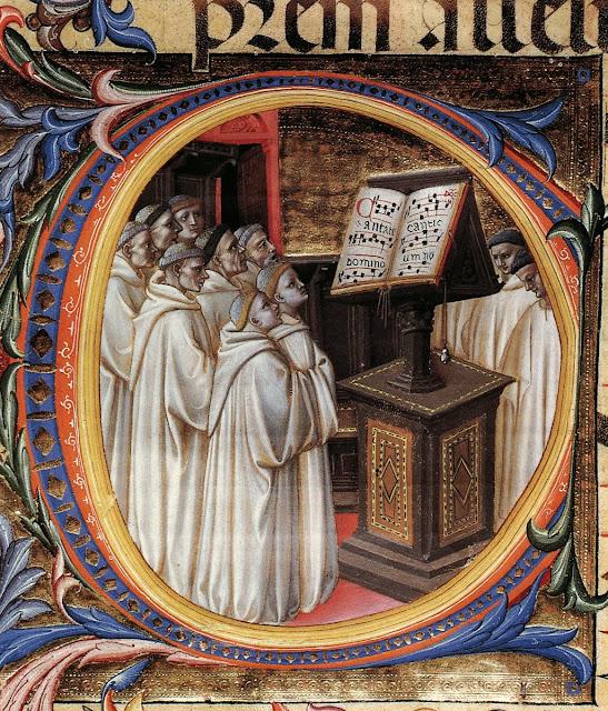 A vida dos monges girava em torno da oração para Deus se manifestar propício aos homens