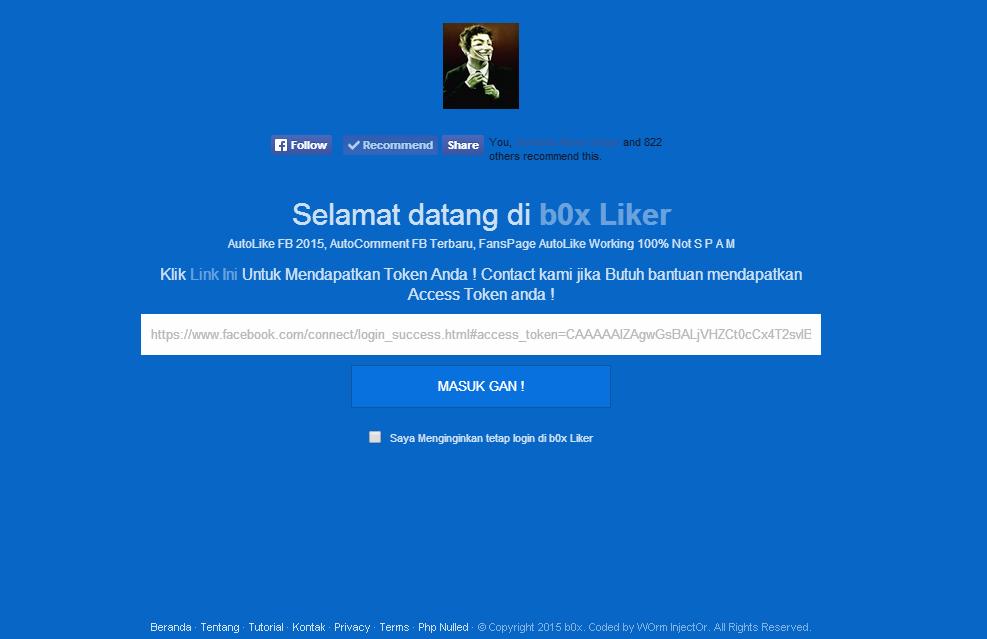 b0x Liker, Auto Like Fb Terbaru 2015, Auto Comment Facebook
