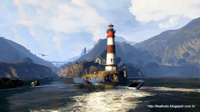 Grand Theft Auto Online Sea Mountains Sky - Mar Ceu Montanha