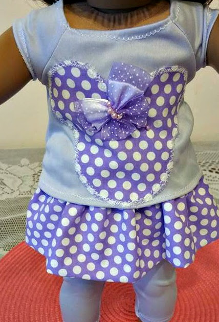 PURPLE MOUSE 3 PIECE DOLL OUTFIT!