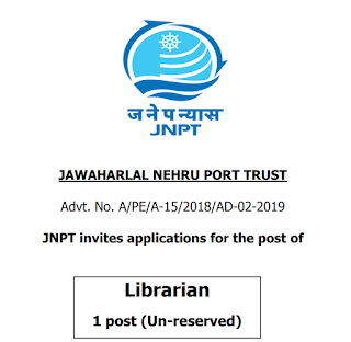 JNPT Librarian Old Question Papers & Syllabus 2019 | Recruitment 2019