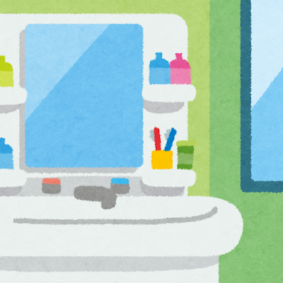 洗面台・洗面所のイラスト(室内風景)