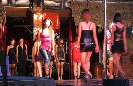 nightlife girls at Yangon