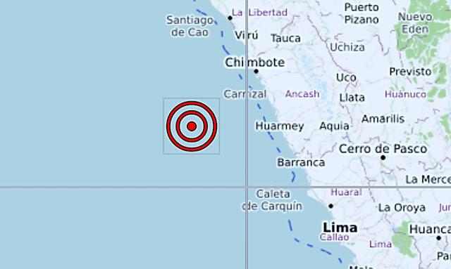 Sismo de magnitud 5.7 se registró en Áncash esta mañana