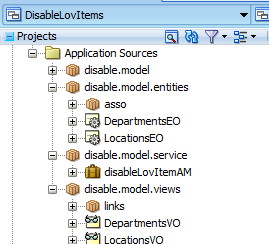 Dynamically enable or disable items of ADF bound List (af