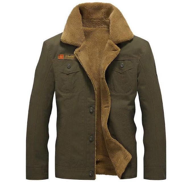Men's Pilot M1 Fur Lined Collared Winter Jacket