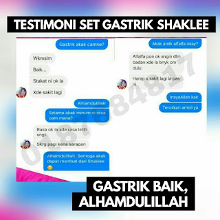 testimoni set gastrik shaklee