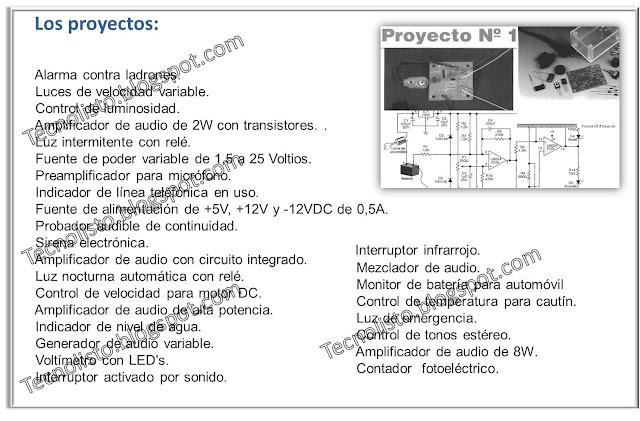 """""""Incluye 30 proyectos de Electrónica"""""""