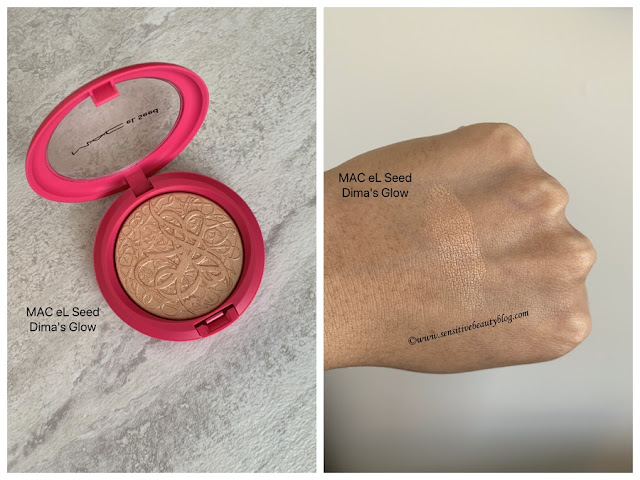 MAC eL Seed Dima's Glow Extra Dimension Skinfinish swatches dark skin