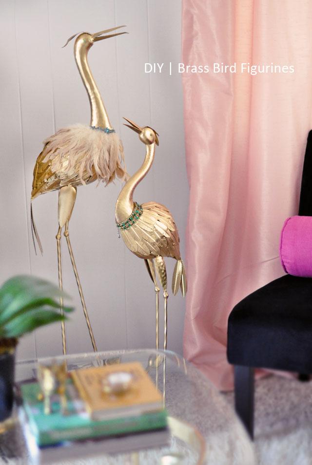 DIY Brass Birds Figurines