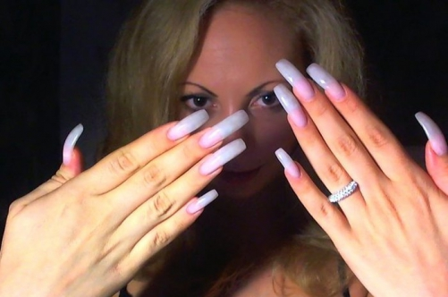 Оранжевые ногти у девушек порно