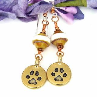 dog rescue paw print jewelry for women
