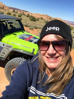 Jeep Momma Off Roading in a lifted Jeep