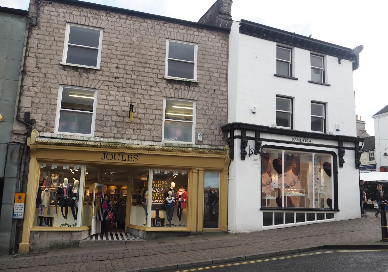 Well-known brands, Joules and Pandora, Kendal high street