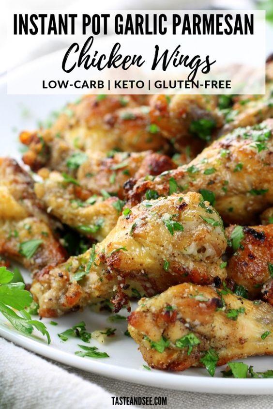 Instant Pot Garlic Parmesan Chicken Wings