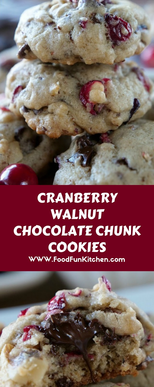 CRANBERRY WALNUT CHOCOLATE CHUNK COOKIES