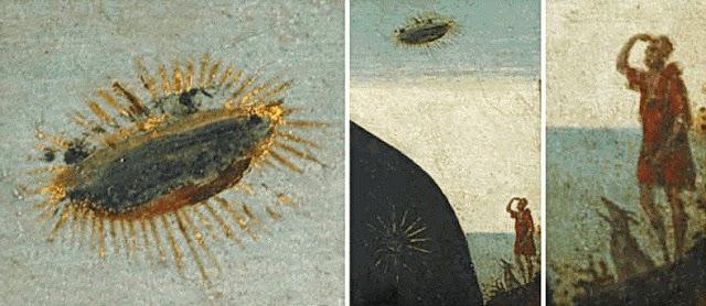 El objeto aparece observado por un pastor y su perro