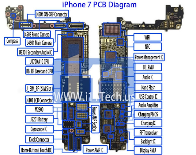 iphone 7 pcb diagram