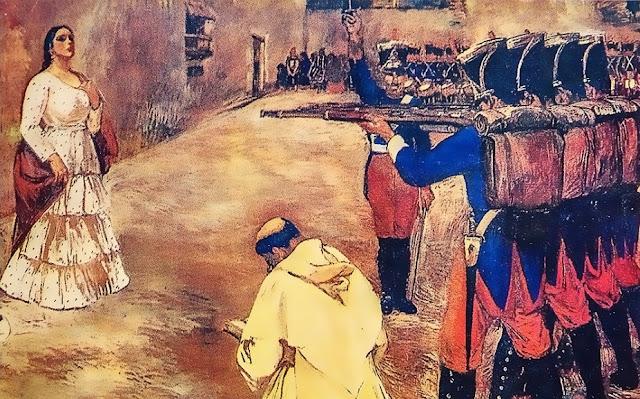 ¿Cómo murió María Parado de Bellido?