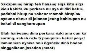 Kata Mutiara Bijak Bahasa Sunda