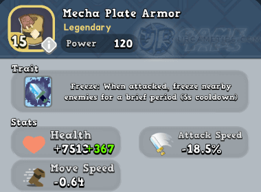 World of Legends Mecha Plate Armor