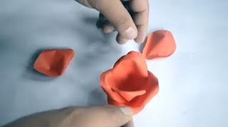Easy Origami Rose For Children