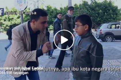 Bocah-Bocah Palestina Ditanya Ibukota Israel, Jawabannya Menakjubkan